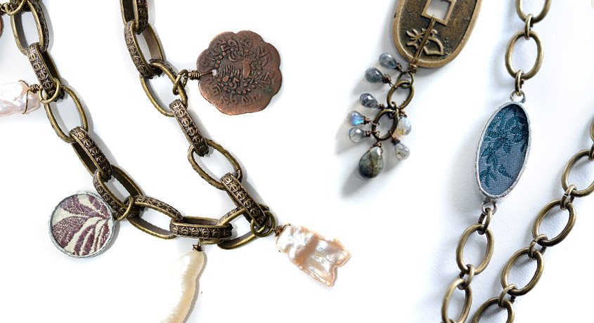 Treasures of the Deep Antique Coin Pearl Necklaces