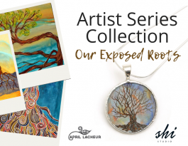 shi studio april lacheur artists series jewellery art painting collaboration silver